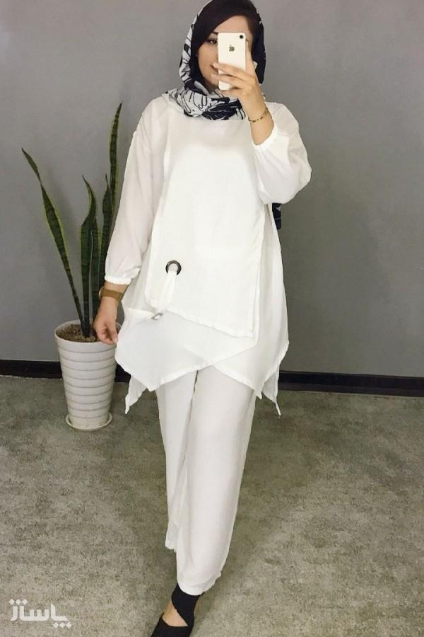 مانتو زنانه ابروبادی مدل ست فلور-تصویر اصلی