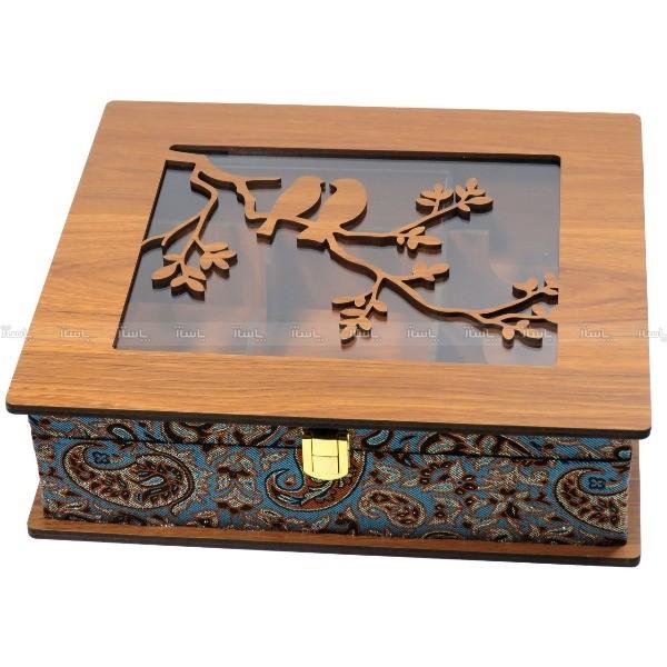 جعبه پذیرایی جعبه آجیل جعبه دمنوش مدل پرنده لوکس باکس کد LB63-تصویر اصلی