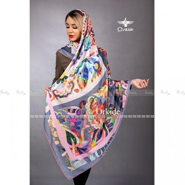 روسری ابریشم فاستونی دیجیتال 166-06 ارکیده-تصویر اصلی