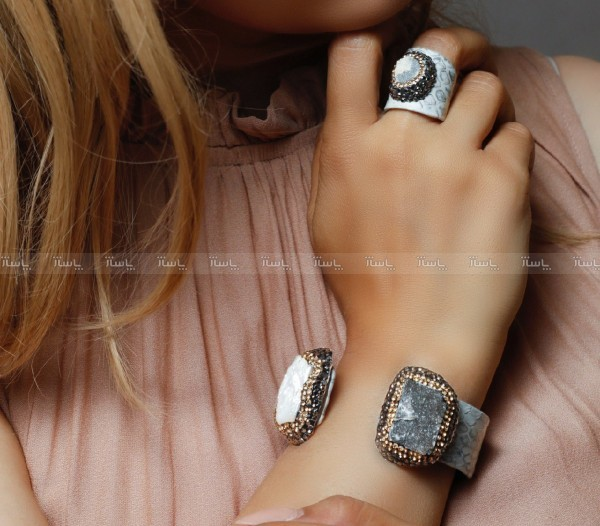 دستبند و انگشتر سنگ اصل سوارسکی لومیر-تصویر اصلی