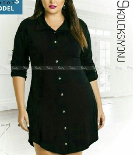 پیراهن زنانه جلو دکمه دار-تصویر اصلی