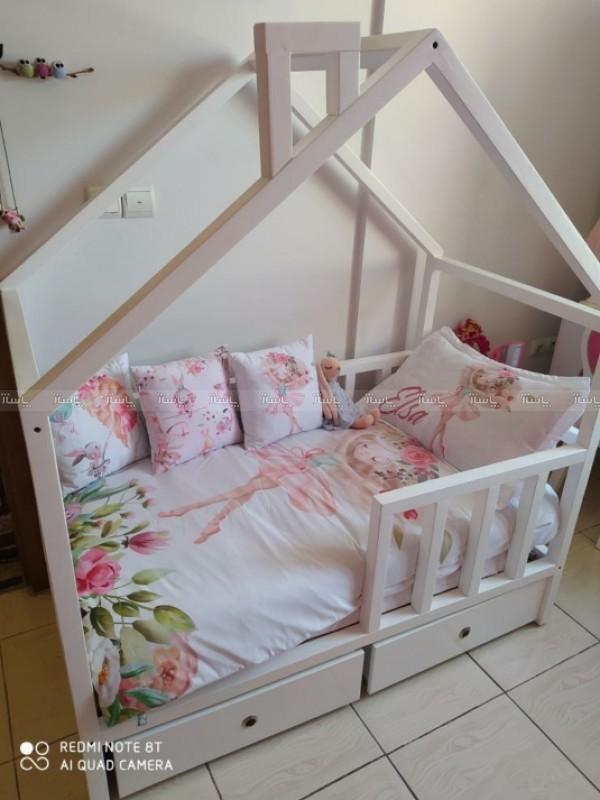 تخت کلبه ای چوب-تصویر اصلی