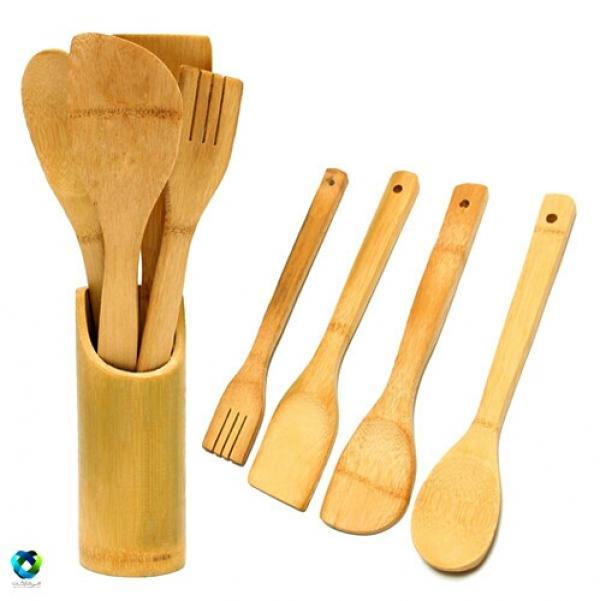 ست کفگیر و قاشق چوبی بامبو-تصویر اصلی