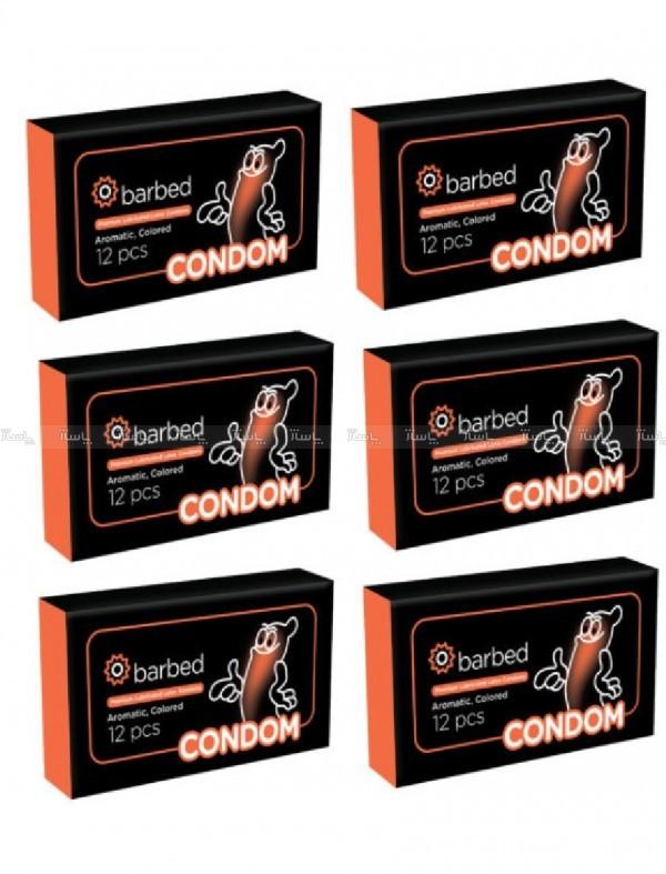 کاندوم خاردار و شیاردار Barbed پک 6 بسته ای-تصویر اصلی