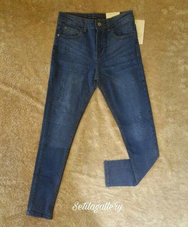 شلوار جین رنگ وسط فاق بلند قد90-تصویر اصلی