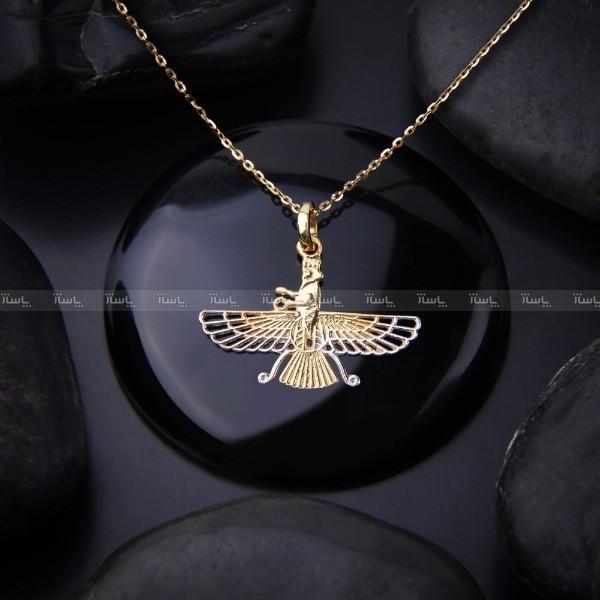 گردنبند نقره فروهر آبکاری طلا-تصویر اصلی