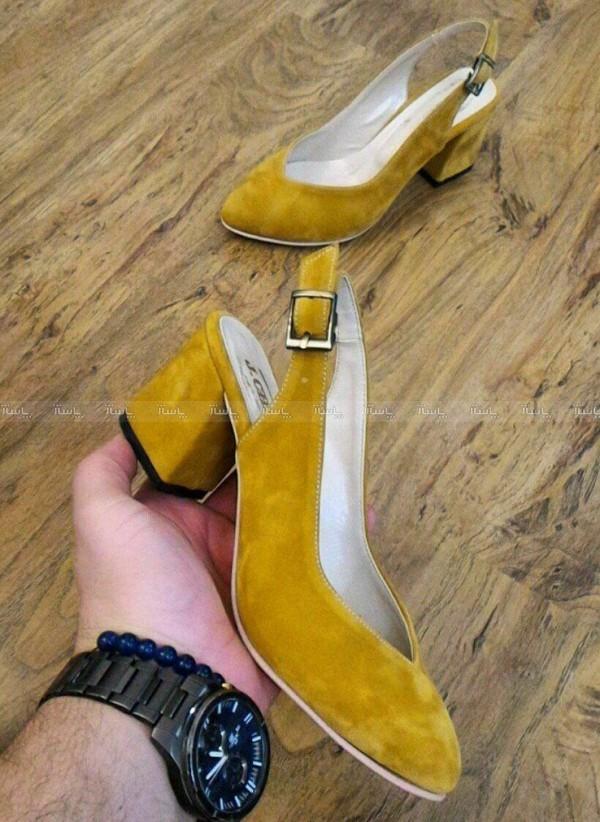 کفش مخمل پاشنه 5 سانت B-تصویر اصلی