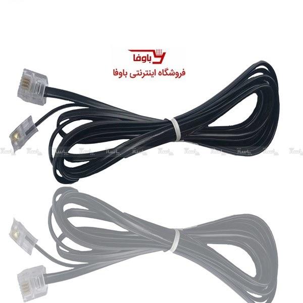 کابل تلفن 2m (تعداد 10 عدد)-تصویر اصلی