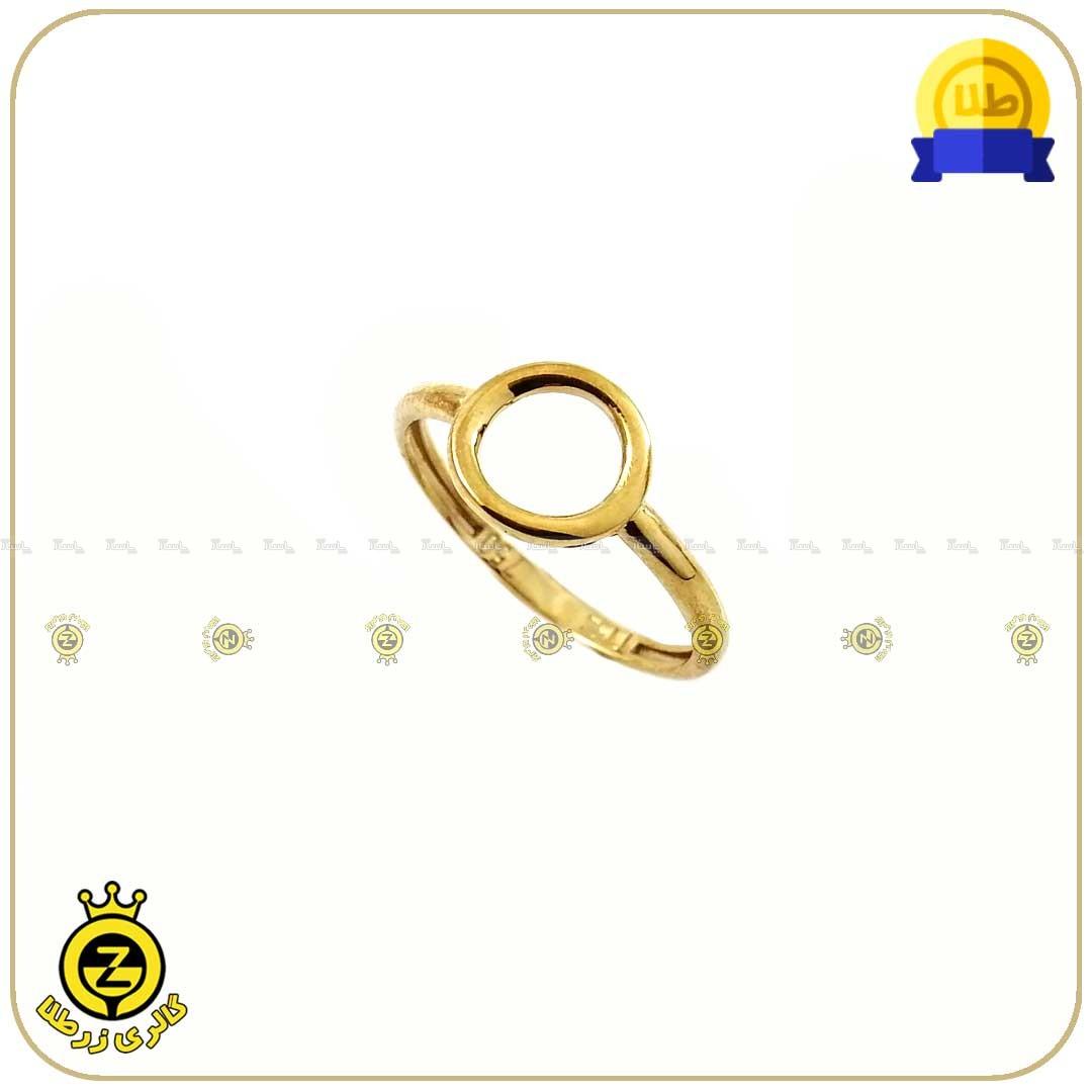 انگشتر طلا دایره کوچک توخالی-تصویر اصلی