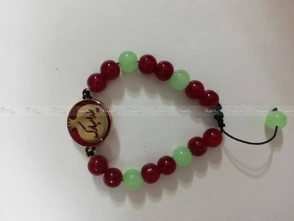 دستبند یلدایی برنجی رنگ ثابت انار یلدا مبارک-تصویر اصلی