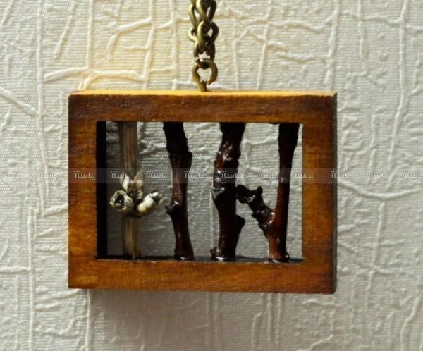 گردنبند چوبی دست ساز مدل Fence-تصویر اصلی