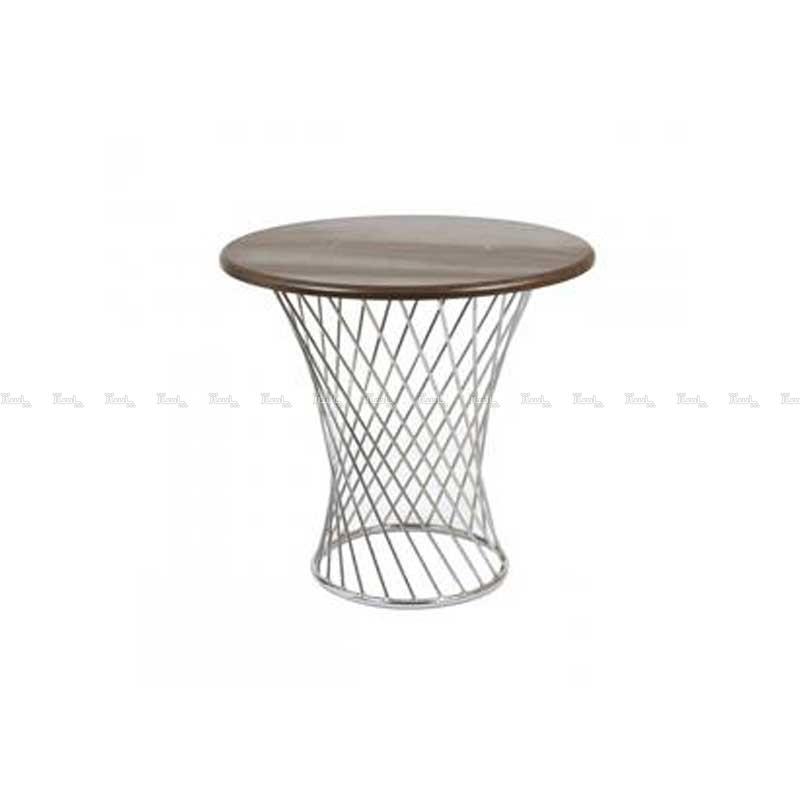 میز چهار نفره پایه گلدانی رنگ کوره ای استیل هامون-تصویر اصلی