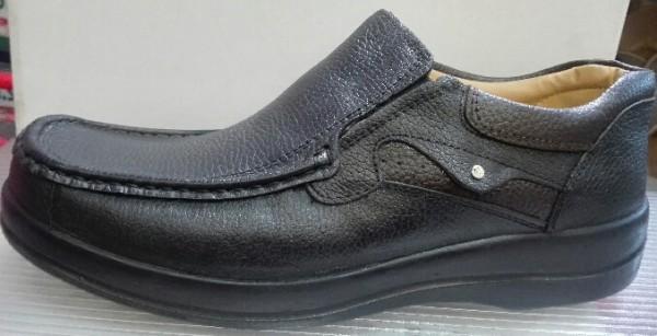 کفش مردانه چرمی (چرم طبیعی)  پا بزرگ-تصویر اصلی