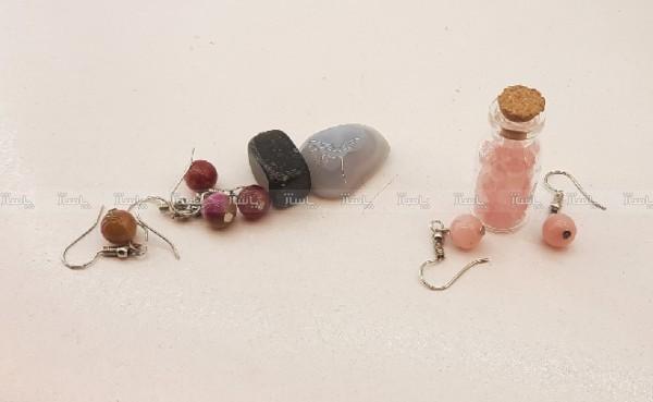 پلاک.ماه تولد،شیشه ارزوها و گوشواره با هم کدh۰۱۱-تصویر اصلی