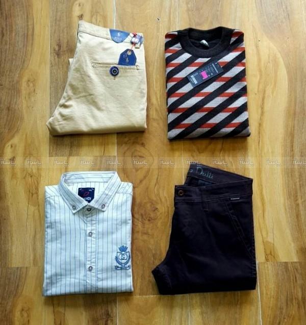ست یک عدد شلوار + بافت+پیراهن-تصویر اصلی