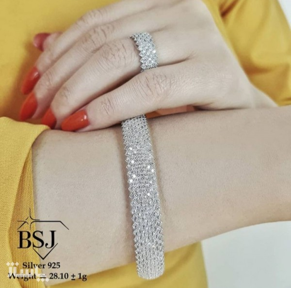ست دستبند و انگشتر نقره-تصویر اصلی