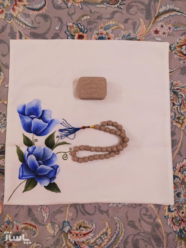 جانماز طرح دو گل زیبا-تصویر اصلی