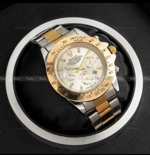 ساعت مچی مردانه رولکس (طلایی،نقره ای)-تصویر اصلی