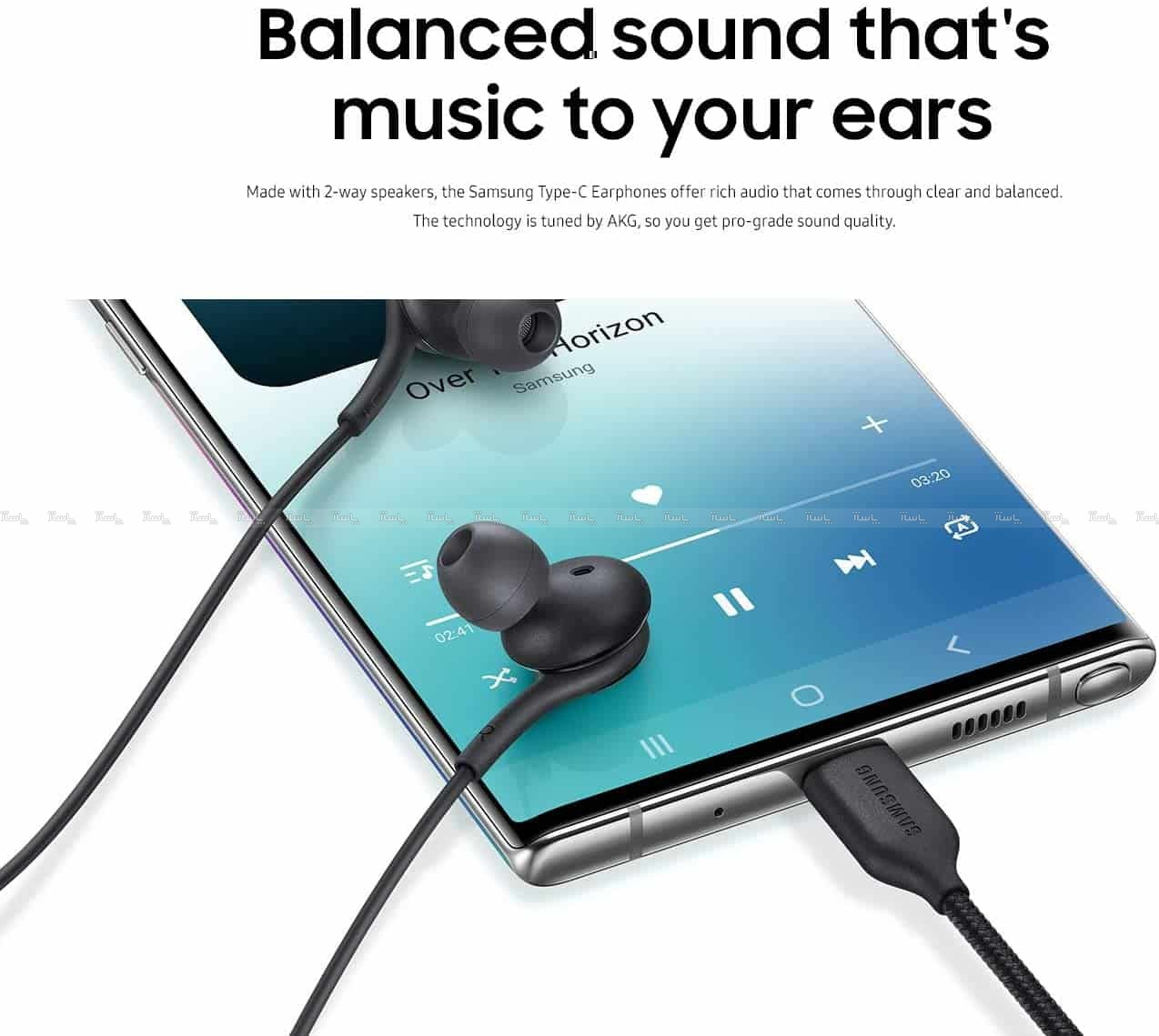 هندزفری اصلی سامسونگ Samsung AKG Type-C Earphone-تصویر اصلی