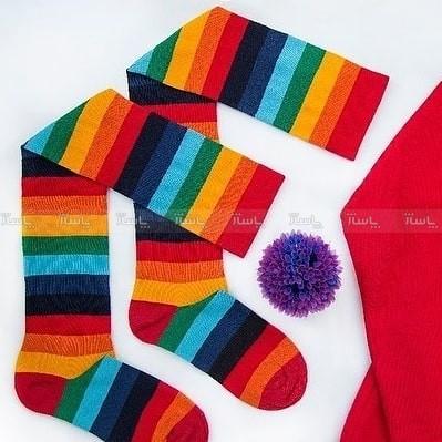 جوراب رنگی رنگی زیر زانو-تصویر اصلی