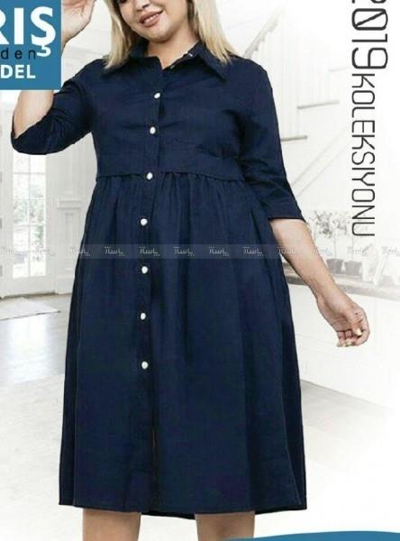 پیراهن جلو دکمه دار زنانه-تصویر اصلی