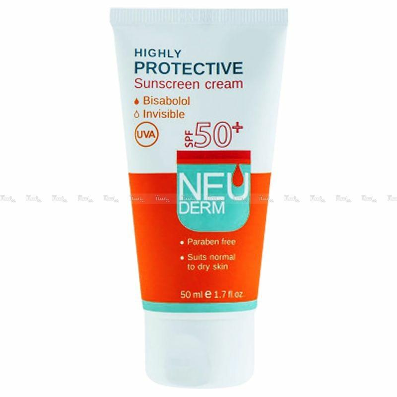 کرم ضد آفتاب نئودرم SPF50 فاقد رنگ مناسب پوست نرمال تا خشک 50 میل-تصویر اصلی