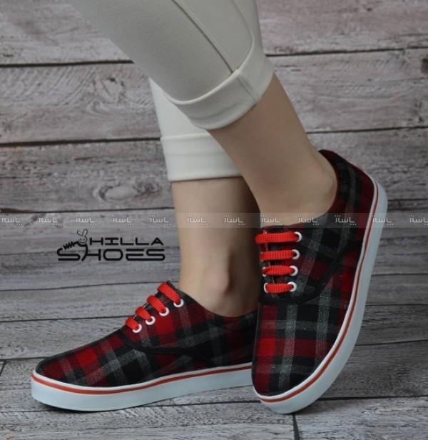 کفش ونس چهارخونه قرمز-تصویر اصلی