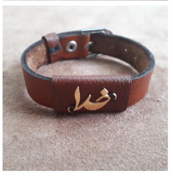 دستبند چرم طبیعی ، ترکیب گاوی و بُزی-تصویر اصلی
