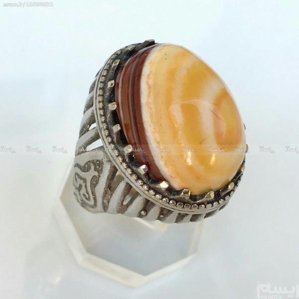 انگشتر نقره با سلیمانی چشم دار زیبا-تصویر اصلی