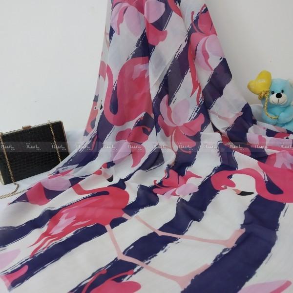 روسری نخی فانتزی طرح فلامینگو لمه دار-تصویر اصلی