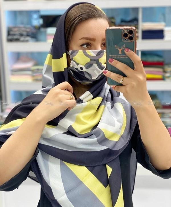 ماسک و روسری فندقی-تصویر اصلی