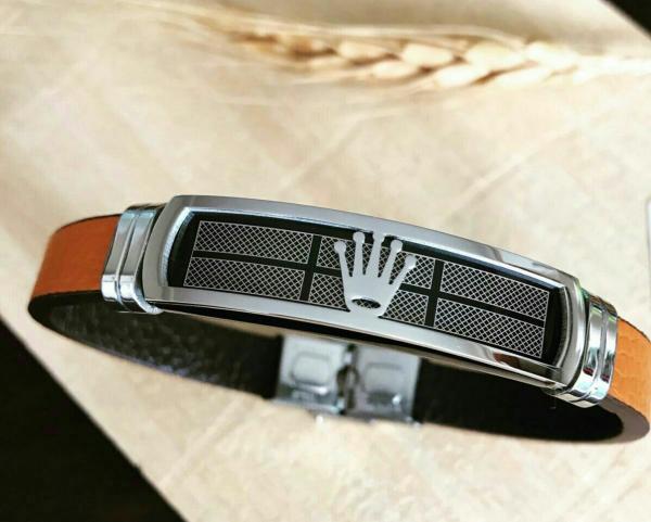 دستبند استیل بندچرمی-تصویر اصلی
