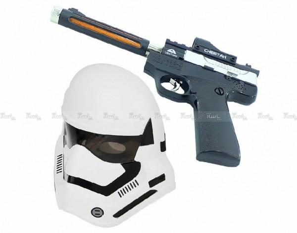 ست تفنگ و ماسک چراغ دارجنگ ستارگان طرح Clone Trooper-تصویر اصلی