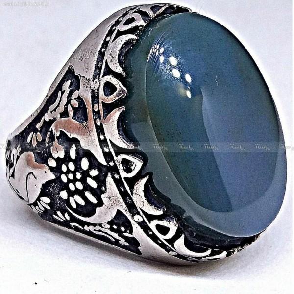 انگشتر قلمکاری عقیق برزیلی فاخر-تصویر اصلی