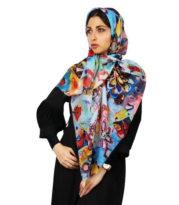 روسری زنانه طرح نقاشی-تصویر اصلی