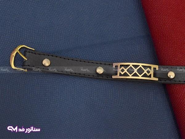 دستبند چرم طرح طلا سناتورمد DM1007-تصویر اصلی