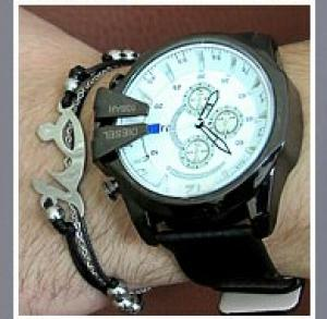 دستبند چرم و استیل طرح خدا-تصویر 2
