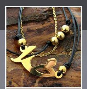 دستبند چرم و استیل طرح خدا-تصویر 3