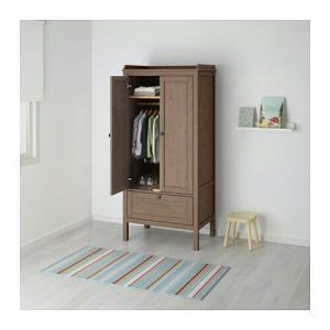 ️کمد چوبی لباس ایکیا مدل SUNDVIK قهوه ای-تصویر 2