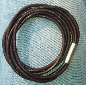 دستبند چرمی دو دور مگنتی