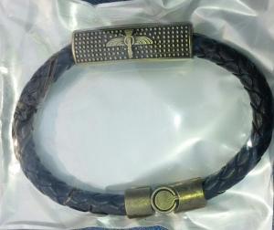 دستبند چرمی بافت مگنتی