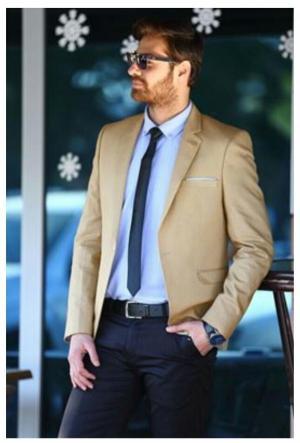 کت مردانه بژ
