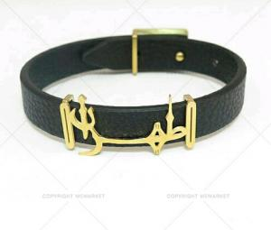 دستبند چرم مردانه طرح طهران