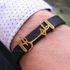 دستبند چرم مردانه طرح طهران-تصویر 4