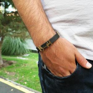 دستبند چرم مردانه طرح طهران-تصویر 5