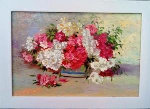 تابلو نقاشی گلدان گل