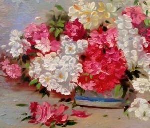 تابلو نقاشی گلدان گل-تصویر 2
