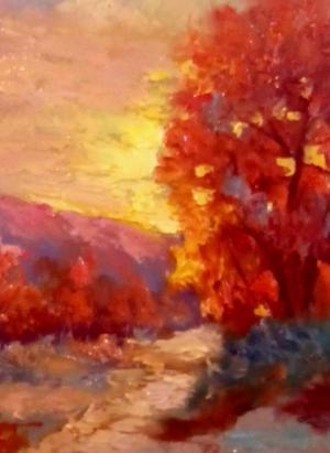 تابلو نقاشی غروب-تصویر 2