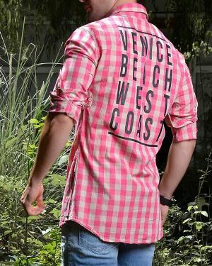پیراهن مردانه چهار خانه مدل 8020-تصویر 4