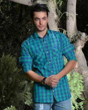 پیراهن مردانه چهار خانه مدل 8020-تصویر 5